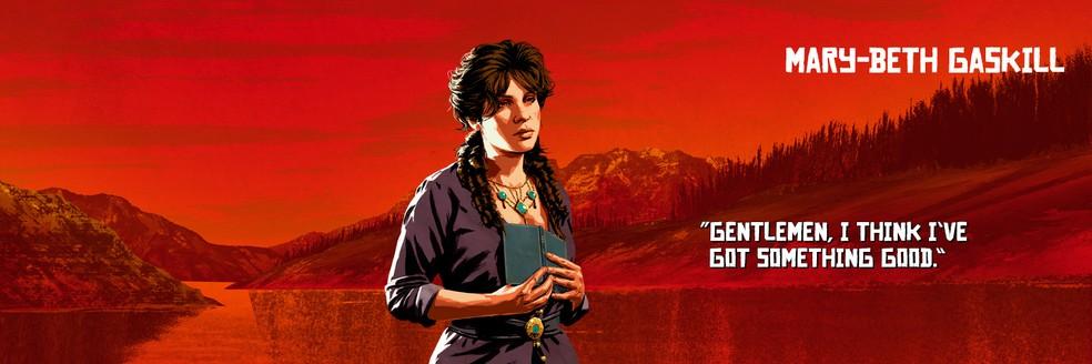 Mary-Beth Gaskill, de Red Dead Redemption 2 — Foto: Divulgação/Rockstar