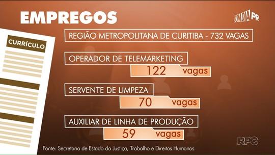 Paraná tem mais de 1,8 mil vagas de emprego disponíveis nas Agências do Trabalhador