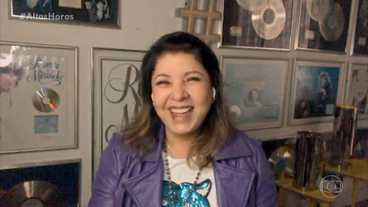 Roberta Miranda explica que ganhou um par de chifres e ali nasceu a música 'Vá com Deus'