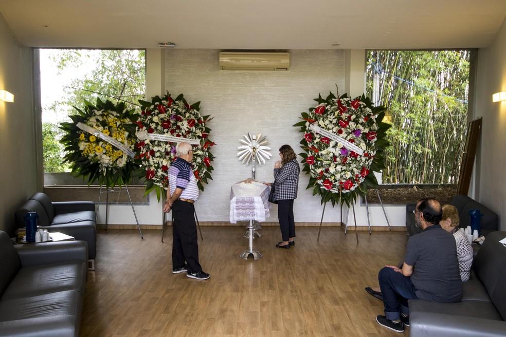 Velório de Angela Maria em SP — Foto: Marcelo Gonçalves/Agência Estado