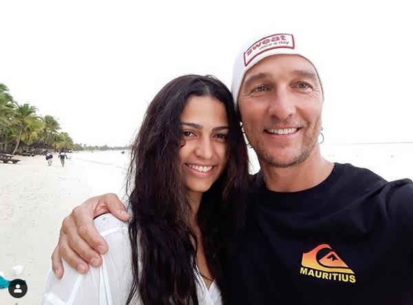 Matthew McConaughey e Camila Alves (Foto: Instagram)
