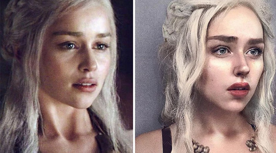 A russa fantasiada de Daenerys Targaryen, da série Game of Thrones. (Foto: Instagram/@benzoate_ost)