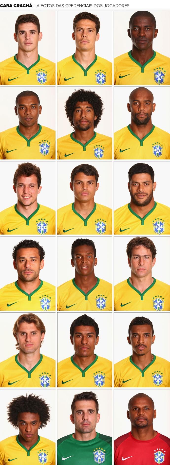 MOSAICO cara CRACHÁ Seleção brasileira  (Foto: Agência Getty Images)