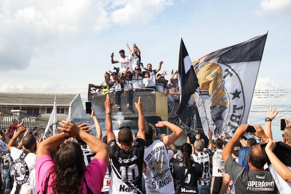 Operário-PR disputará a Série B em 2019 — Foto: Josué Teixeira/Gazeta do Povo