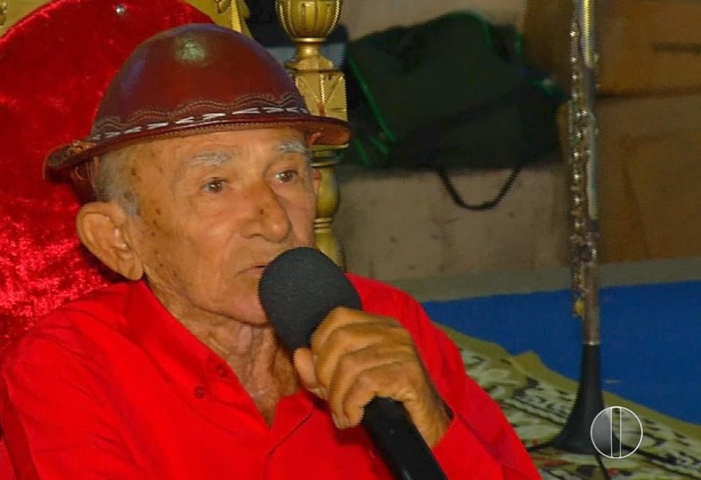 Poeta Xexéu morre aos 81 anos em Santo Antônio, RN — Foto: Reprodução/Inter TV Cabugi