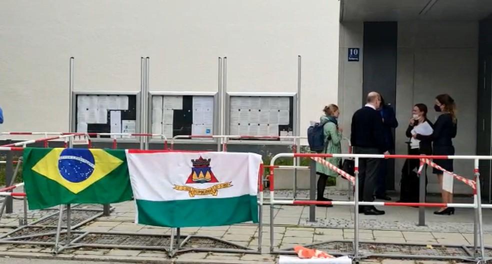 Julgamento da TÜV SÜD em Munique, na Alemanha — Foto: Prefeitura de Brumadinho/ Divulgação