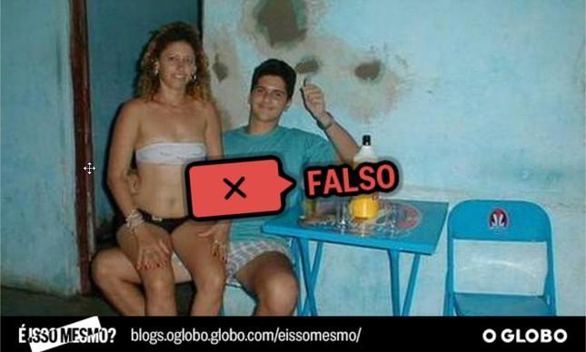 Foto atribuída de maneira equivocada a Marielle Franco e o traficante Marcinho VP