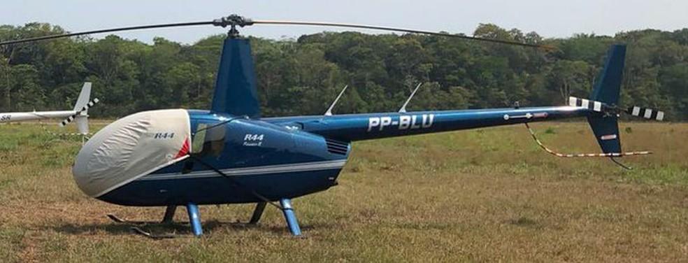 Helicóptero com policiais militares está desaparecido no sudoeste do Pará. — Foto: Reprodução / TV Liberal