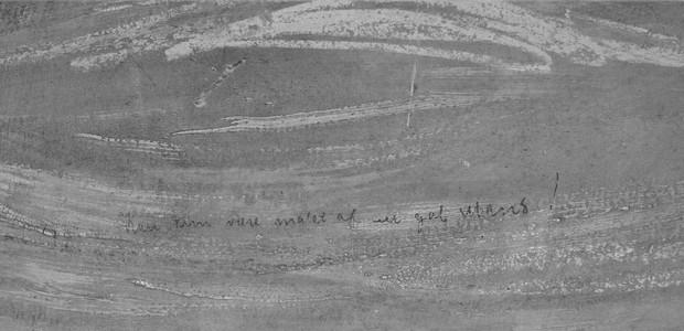 """Na frase escrita a lápis, lê-se """"Só pode ter sido feito por um louco"""" (Foto: Reprodução / NY Times)"""