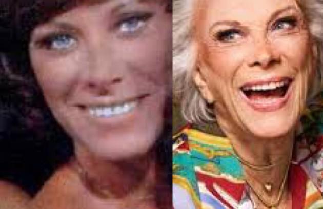 Ilka Soares viveu Celeste, que se apaixonava por Netinho. Em 2018, aos 86, a atriz estrelou uma campanha de moda da marca The Paradise (Foto: TV Globo - Divulgação)
