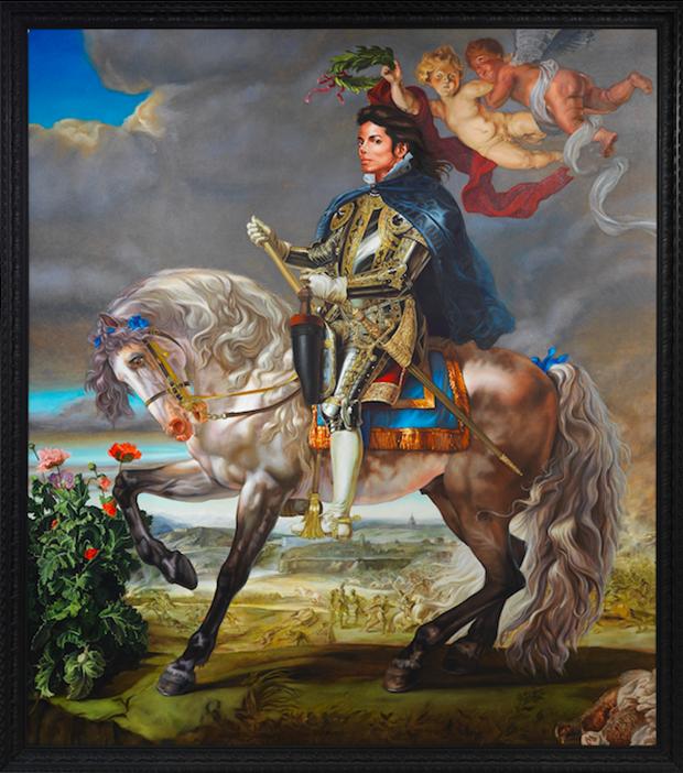 "Hugo Boss patrocina a exposição ""Michael Jackson: 'Equestrian Portrait of King Phillip II (Michael Jackson)' (2010) por Keyhinde Wiley (Foto: Reprodução)"
