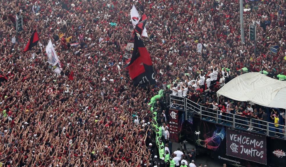 Flamengo faz a festa no Centro — Foto: Reuters