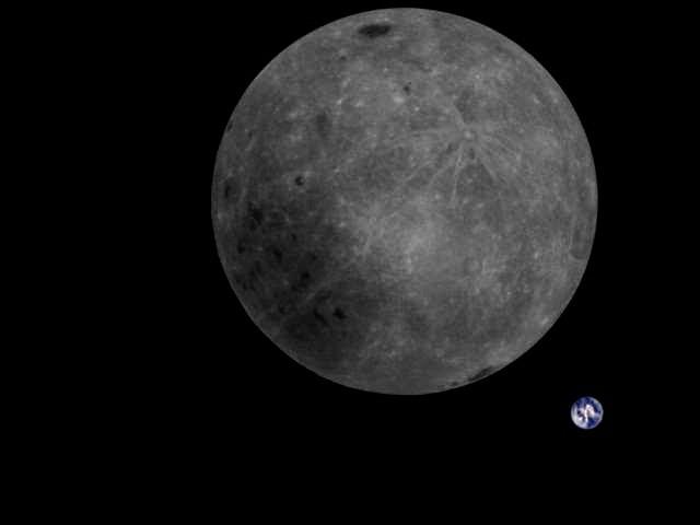 Nova foto mostra nova perspectiva sobre a Terra e a Lua (Foto: Divulgação/MingChuan Wei (Harbin Institute of Technology))