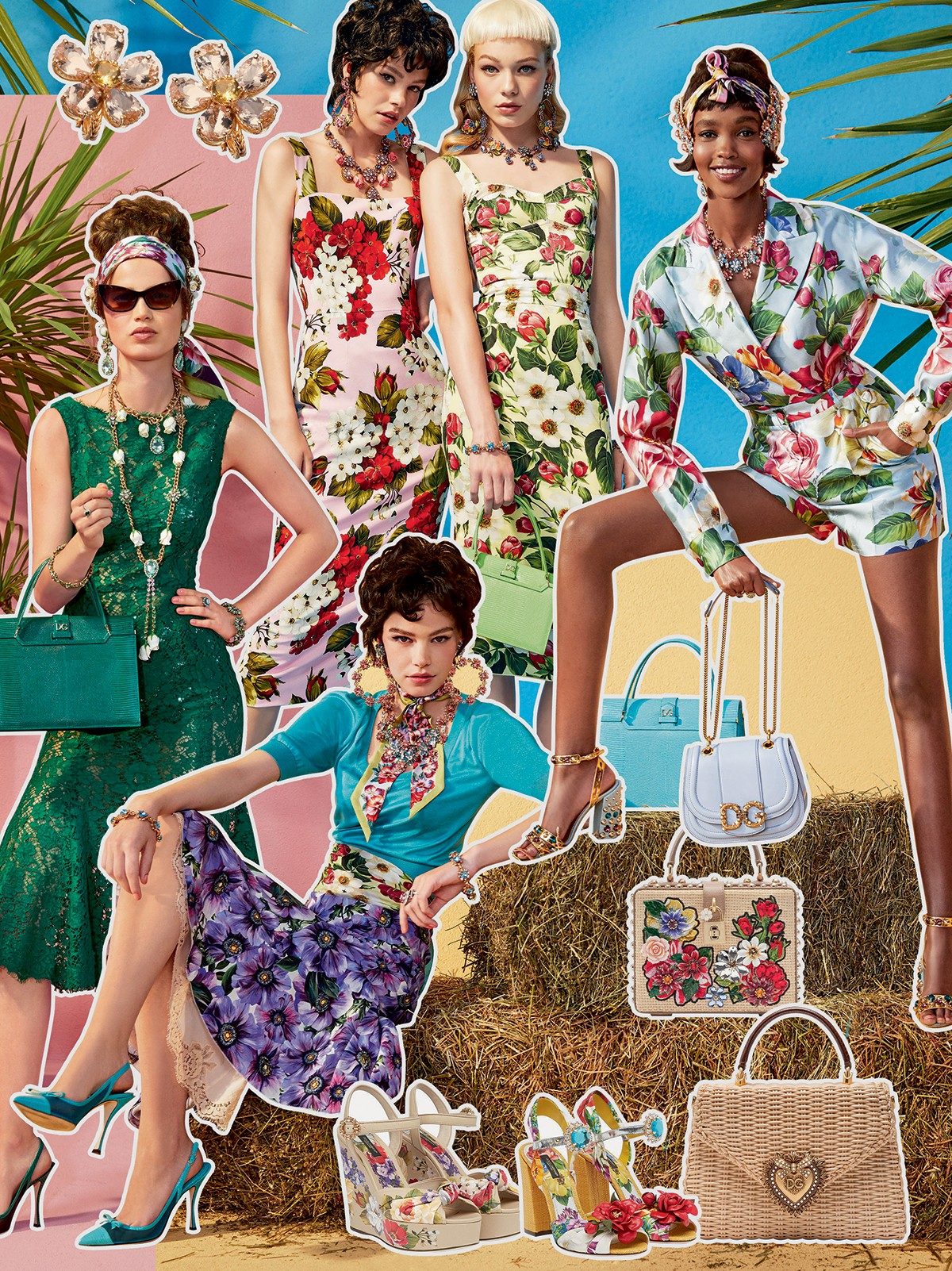 Dolce & Gabbana - Fiéis a uma feminilidade vintage, as cinturas marcadas, as bolsas de alça manual e os escarpins de bico fino são marcas registradas da dupla  (Foto: Cortesia Dolce & Gabbana)