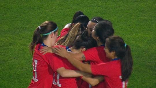 O gol de Costa Rica 0x1 Chile pelo Torneio Internacional de Futebol Feminino