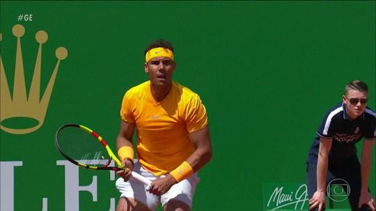 """Nadal aplica """"pneu"""" em Thiem pelo Masters 1000 de Monte Carlo"""