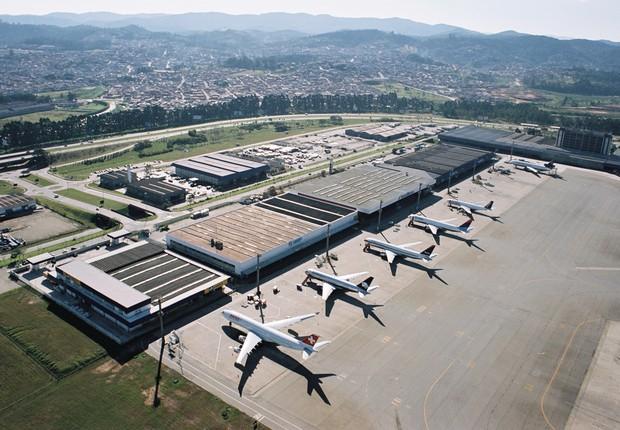 Aviões em terminal no Aeroporto Internacional de Guarulhos (Foto: Divulgação)
