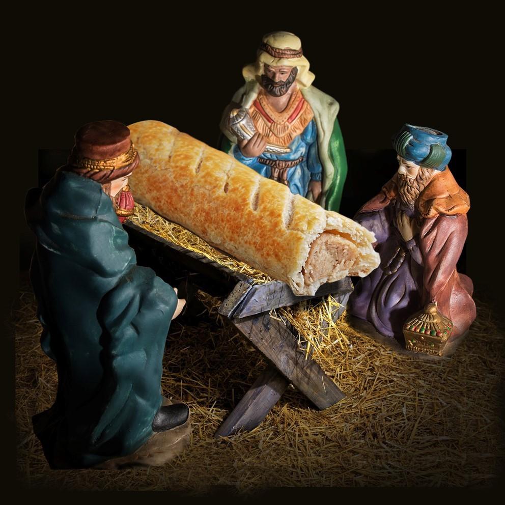 Jesus virou salsicha em presépio inglês