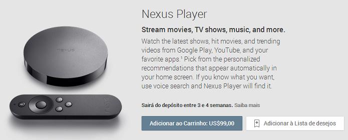Nexus Player teve pré-venda pausada, mas já voltou ao Play americano (Foto: Reprodução/Aline Jesus)