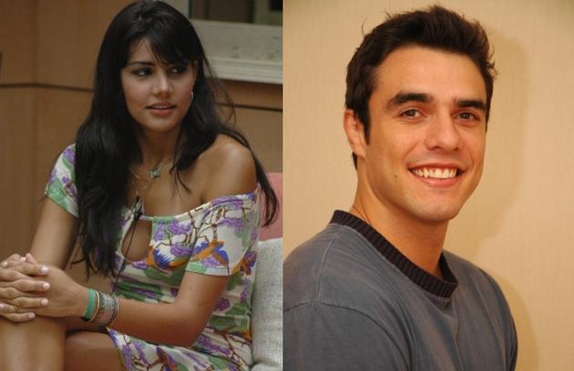 Mariana e Daniel ficaram juntos no início do 'BBB' 6, mas ele logo rejeitou a modelo e investiu em Roberta. Fora do reality, se reconciliaram e estão juntos até hoje (Foto: Reprodução)