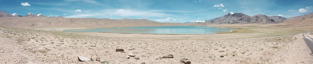 Kyagar Tso, em Ladakh, na Índia (Foto: Rafael Miotto / G1)