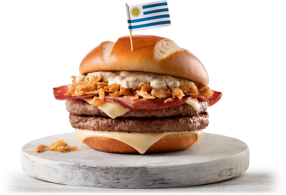 McUruguai, um dos sanduíches lançados pelo McDonald's para a Copa do Mundo (Foto: Divulgação)