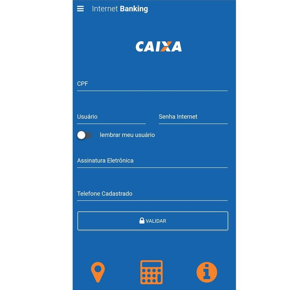 Falso Internet Banking da Caixa — Foto: Divulgação/dfndr lab