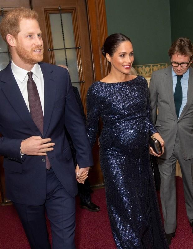 O príncipe Harry e Meghan Markle no Royal Albert Hall (Foto: Getty)