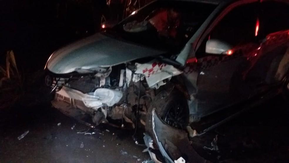 Acidente foi registrado na BR-222 em Açailândia (MA) — Foto: Divulgação/Polícia Rodoviária Federal