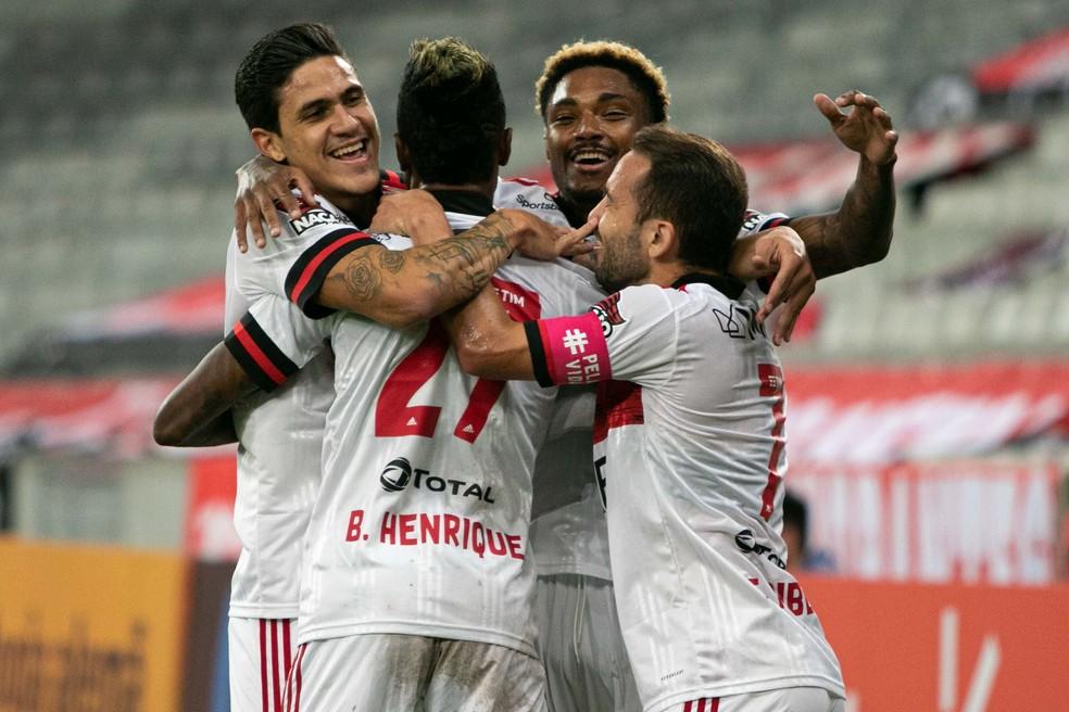 Flamengo está invicto há 12 partidas — Foto: VINICIUS DO PRADO/AGÊNCIA F8/ESTADÃO CONTEÚDO