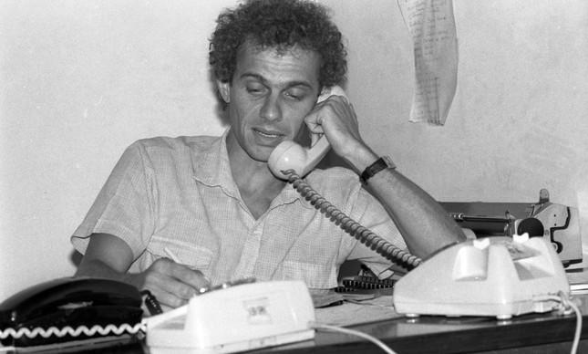 Ricardo Boechat em imagem de 4 de fevereiro de 1983