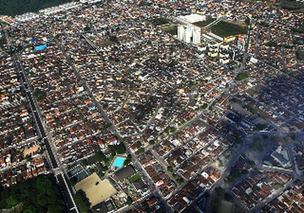 Zona Noroeste de Santos conta com 16 bairros — Foto: Divulgação/Prefeitura de Santos