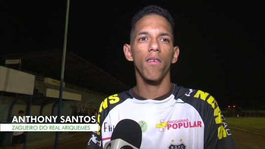 """""""Não tem nada perdido"""", diz zagueiro do Real Ariquemes, sobre derrota no primeiro jogo da final"""