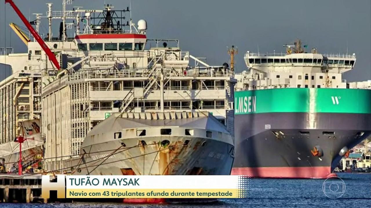 Navio com 43 tripulantes desaparece perto de ilha no Japão