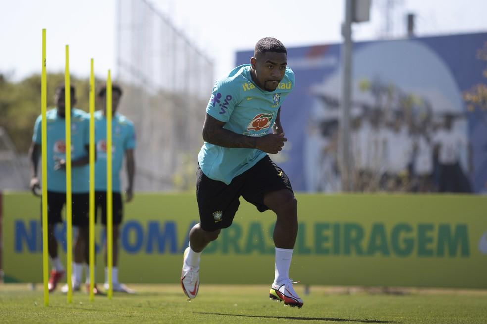 Malcom não vai mais defender a seleção brasileira nesta data Fifa — Foto: Lucas Figueiredo / CBF
