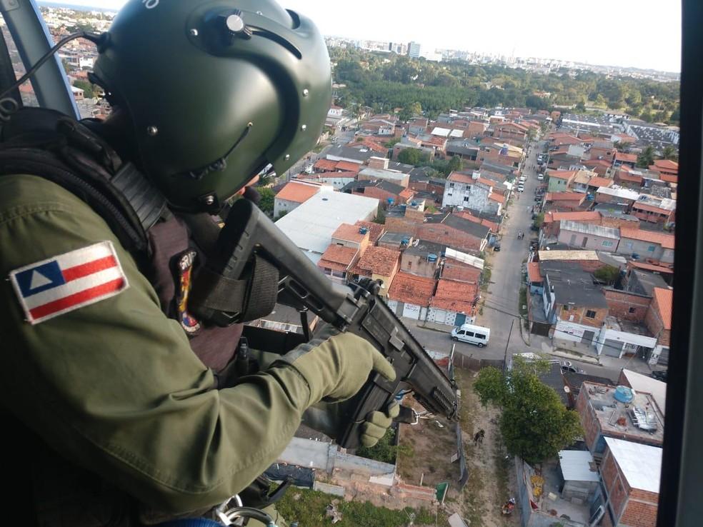 Operação ocorreu nas localidades de Queira Deus e Pé Preto, em Lauro de Freitas — Foto: SSP/ Divulgação