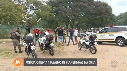 Brigada Militar orienta trabalho de flanelinhas na Orla do Guaíba
