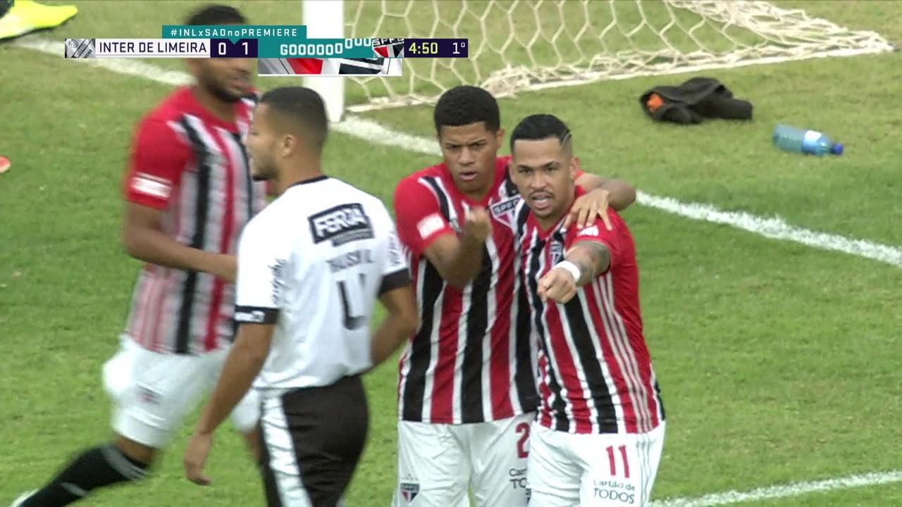 Gabriel Sara, em Inter de Limeira 0 x 4 São Paulo