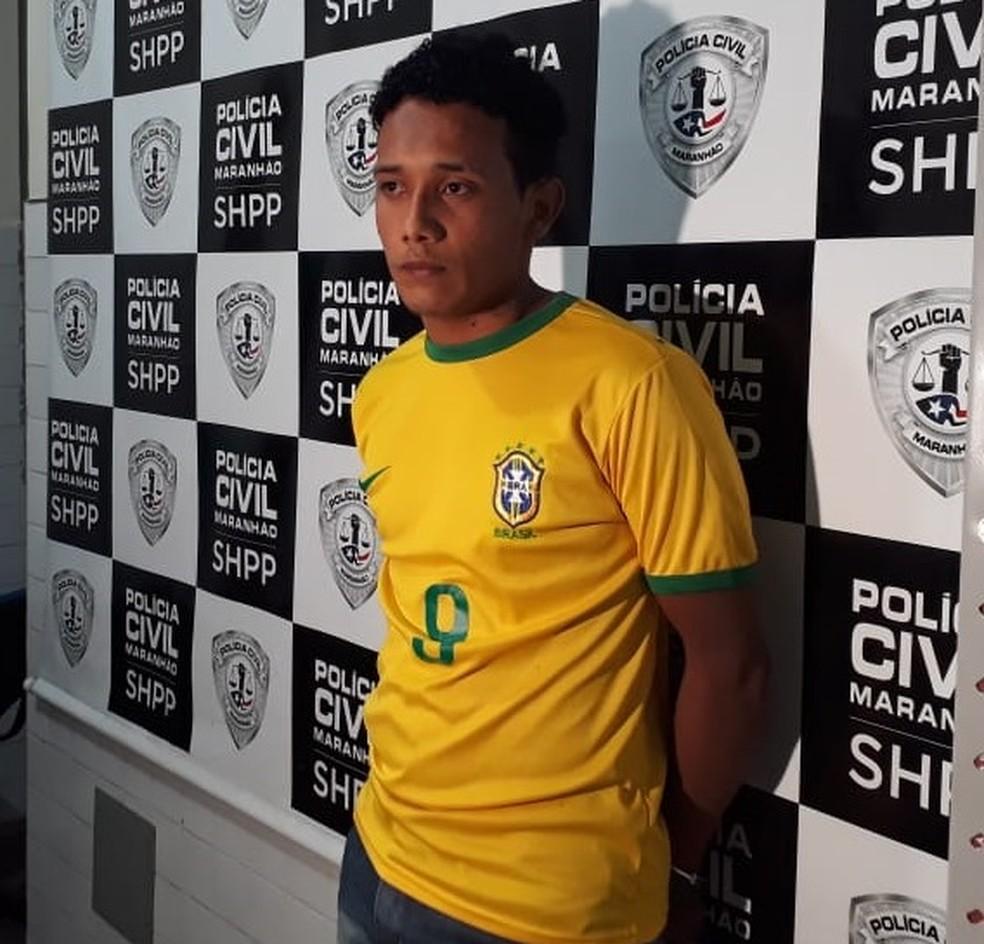 Pablo Martins da Silva se apresentou na SHPP e confessou ter matado dois terceirizados da Cemar na última terça (15) — Foto: Ádria Rodrigues