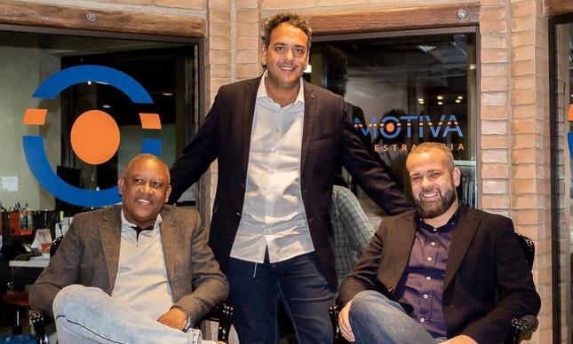Celso Athayde, Leonardo Ribeiro e Renato Meirelles, do Data Favela