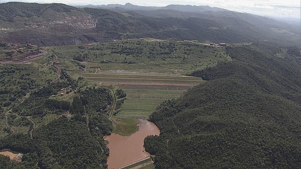 ANM interdita todo o complexo de Gongo Soco em Barão de Cocais — Foto: Globo/Reprodução