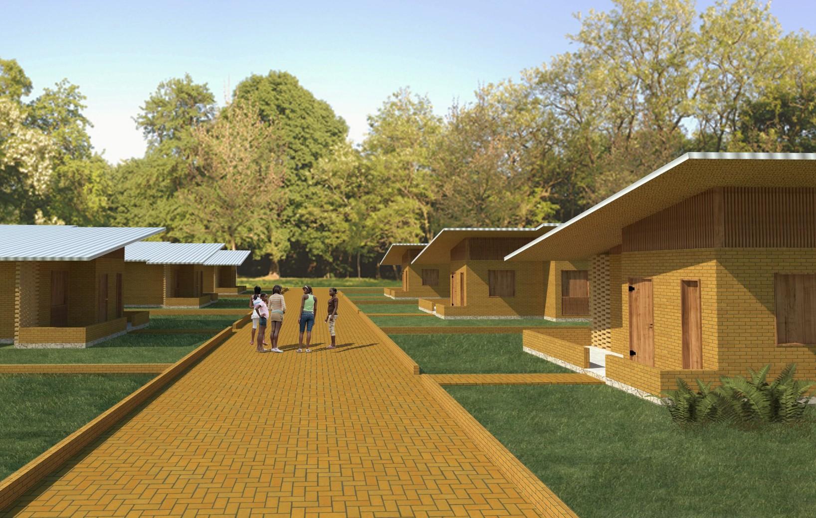 Em seu projeto, o Village Marie conta com 15 casas, além de escola, posto de saúde e centro cultural (Foto: Divulgação / Projeto de Manacá Arquitetura da Experiência)
