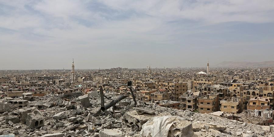 Vista do bairro al-Qadam, em Damasco, capital da Síria (Foto: STRINGER/AFP)