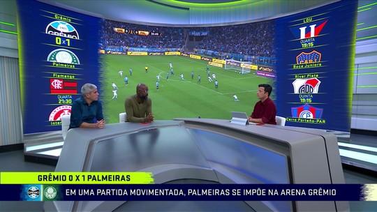 """Comentaristas veem Grêmio previsível e exaltam vitória do Palmeiras: """"Resultado maiúsculo"""""""