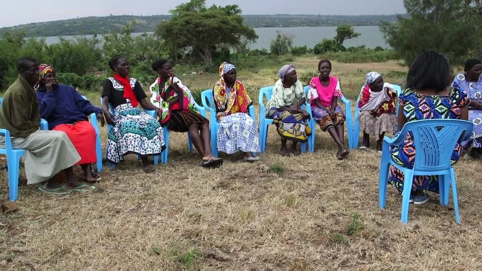 'Em um grupo como esse, podemos nos apoiar mutuamente', afirma Pamela (Foto: BBC)