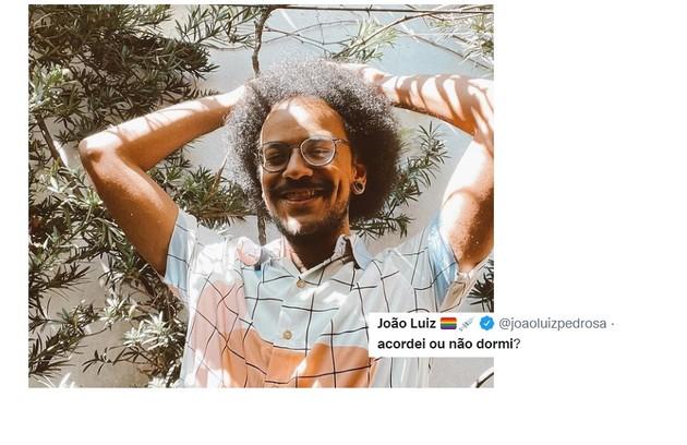 João Luiz, que apresenta dois programas da Globo e do Globoplay, fez piada sobre o excesso de compromissos (Foto: Reprodução)
