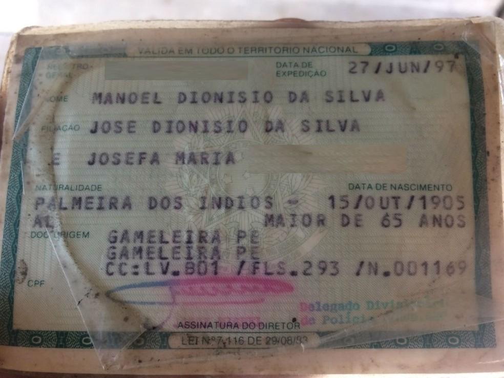 Manoel nasceu em 15 de outubro de 1905 (Foto: Reprodução)