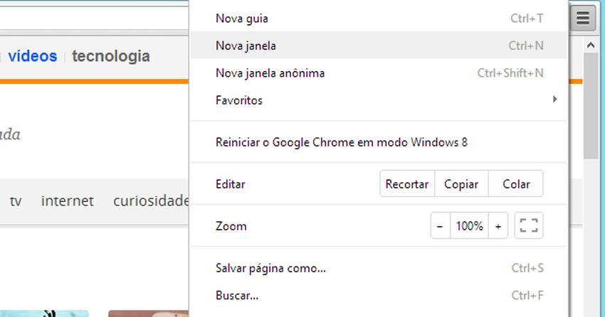 Como desativar o novo estilo de menu do Chrome