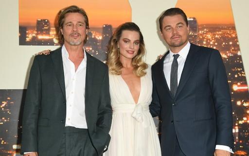 Margot Robbie, Leonardo DiCaprio e Brad Pitt lançam 'Era uma vez... em Hollywood'