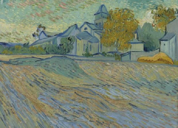 """Quadro de Van Gogh: """"Vue de l'asile et de la Chapelle de Saint-Rémy"""",  (Foto: Wikimedia Commons)"""